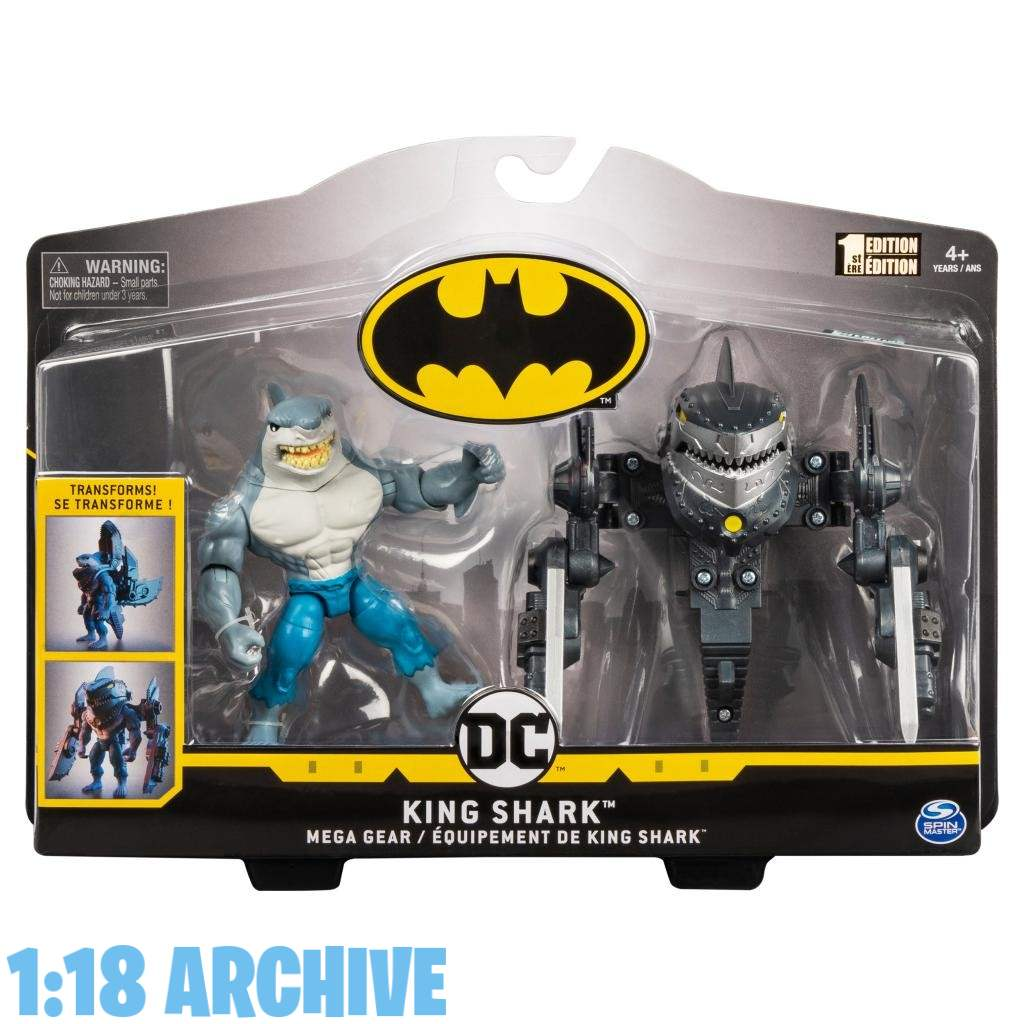 1:18 Archive Spin Master DC Batman Caped Crusader Action Figure Checklist Guide Review King Shark