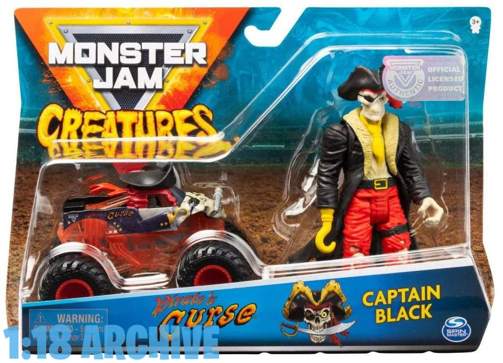 1:18 Action Figure Archive Reviews Checklist Guide Spin Master Toys Monster Jam Creatures Captain Black